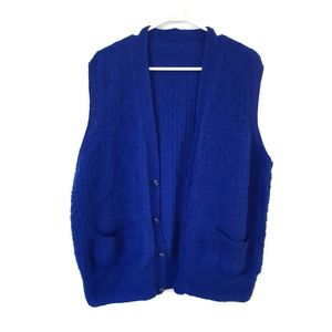 Blue Handmade Knit Vest